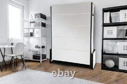 Studio 140cmx190cm Wall Bed Vertical Folding Bed Pull Down Murphy Bed, Clearance