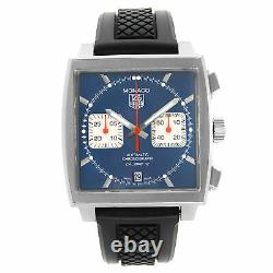 Tag Heuer Monaco Chronograph Blue Dial Automatic Mens Watch CAW2111. FC6183