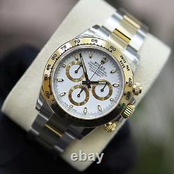 Unworn 2021 Stainless steel & 18ct Gold Rolex Oyster Perpetual Daytona White