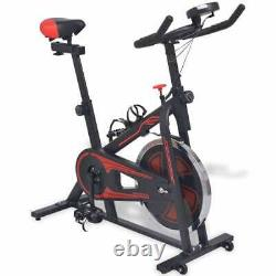 VidaXL Exercise Spinning Bike with Pulse Sensors Home Gym Bicycle White/Black