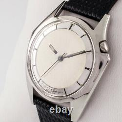 Zodiac Stainless Steel Olympos Automatic Watch with Mystery Dial and Leather Band